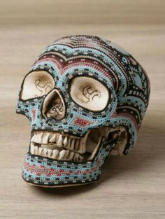 skull art | ... Art Of Beaded Skulls Burst with Color. Crazy Touch In Interesting