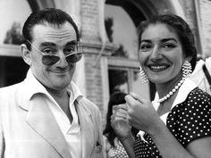 Luchino Visconti e Maria Callas, 1956. Foto-gallery e immagini - LeiWeb