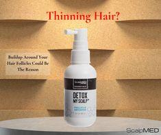 How Do Hair Detoxifiers Work? Scalp Med, Hair Scalp, Oily Hair, Hair Buildup, Hair Follicles, Interior Walls, Cholesterol, Hair Removal, Hair Loss