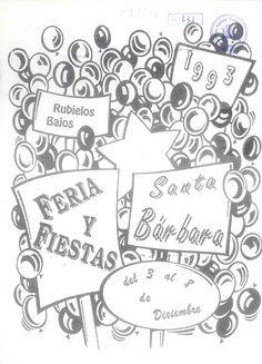 Feria y Fiestas de Santa Bárbara en Rubielos Bajos (Cuenca). Del 3 al 8 de diciembre de 1993. Procesión y subasta de varas. #Fiestaspatronales #RubielosBajos #Cuenca