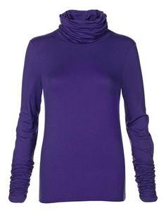 Polo neck shirt, Violet.