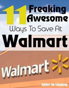 Freaking Awesome Ways to Save Money at Walmart