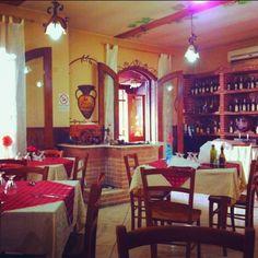 Cute Italian pizzeria in Naples, Italy