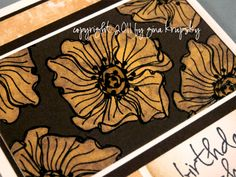 Bleaching Flowers with Embossing- Click on the project photo to view the video.