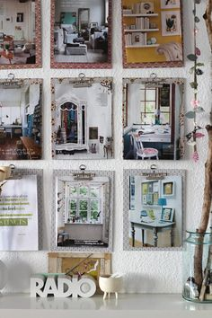 Such a cool way to display art or create your own inspiration board using clipboards!