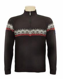 Dale of Norway Calgary Men's Merino Sweater - Black/Torrero/Off White