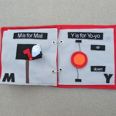 Cute quiet book pages
