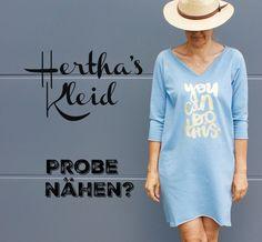 Tante Hertha als Kleid. Ein Schnittmuster für ein ganz einfach zu nähendes Kleid.