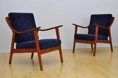 Set of 2 Mid Century Armchairs 1950s  Fully Restored