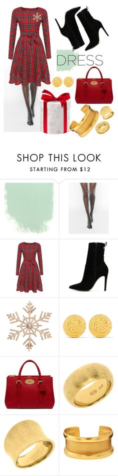 """""""Holiday Dress"""" by scarletpaws ❤ liked on Polyvore featuring Monki, ALDO, John Lewis, Ben-Amun, Mulberry and Stephanie Kantis"""