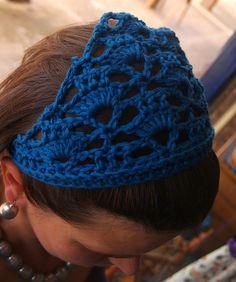 Crochet hair bandana