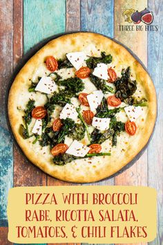 Welcome in fall with this homemade pizza! Earthy broccoli rabe, sweet late-seaso… Welcome in fall with this homemade pizza! Earthy broccoli rabe, sweet late-season tomatoes, and salty ricotta salata make the perfect light-yet-warming fall dinner. Gourmet Pizza Toppings, Gourmet Pizza Recipes, Best Dinner Recipes, Fall Recipes, Lunch Recipes, Sauce Pizza, Pizza Pizza, Kids Pizza, Veggie Pizza