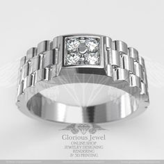 Glorious Engagement or Wedding ring with round CZ stones / 925