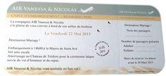 Billet avion Mariage Sable et Argent à partir de 1.49 €