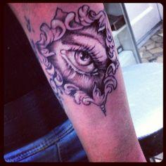 #tattoo#eye#illuminati#newtraditional#newschool#black