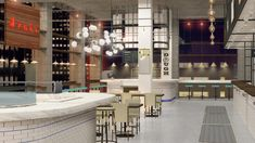 City Kitchen brings New York's most desired and hyped food concepts to the bull's eye of NYC – Times Square. Visitors can delight in the city's best d Hotel Coupons, Times Square, New York, Conceptual Design, Food Court, New City, New Market, Commercial Design, Modern Industrial