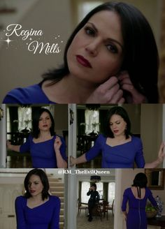 Regina Mills in her blue dress!!! Once Upon A Time. Regina Mills, Evil Queen, Once Upon A Time, OUAT. Top to bottom zipper.