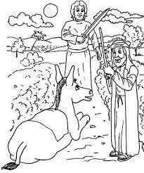 Image Result For Balaam And The Talking Donkey Coloring Pages