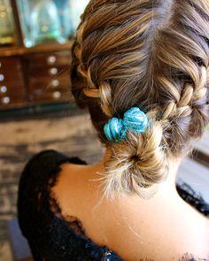 Blue hairband