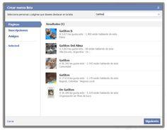 """¿Conoces la función """"intereses"""" de Facebook?  Si no la conoces o no tienes claro porqué y para que sirve, este artículo te interesará:  http://onsoftware.softonic.com/listas-intereses-facebook"""