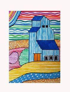 Line art for kids landscape 26 ideas Arte Elemental, 6th Grade Art, Grade 2, Ecole Art, School Art Projects, Middle School Art, Art Lessons Elementary, Elements Of Art, Art Lesson Plans