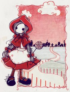 little red riding hood.  by ~coniro