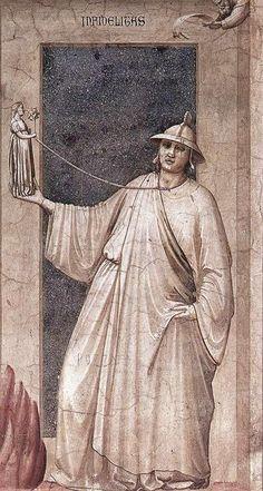Giotto di Bondone - The Seven Vices: Infidelity.