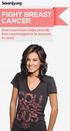 You get a stylish shirt. A woman in need gets a life-saving mammogram.    Grab yours here ➤ www.sevenly.org/Dale