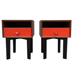 Pair of George Nelson Bedside Tables, Herman Miller, 1948 | From a unique collection of antique and modern tables at http://www.1stdibs.com/furniture/tables/tables/