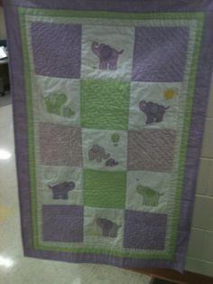 Baby quilt for Sophia Voisard