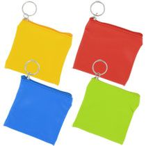 """Square Zippered Coin Purses, 3½"""""""