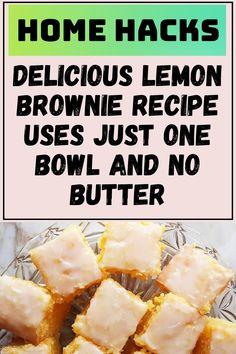 Lemon Desserts, Lemon Recipes, Easy Cooking, Cooking Recipes, Life Hacks Home, Lemon Brownies, Great Recipes, Favorite Recipes, How Sweet Eats