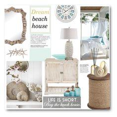 """dream beach house"" by bonadea007 ❤ liked on Polyvore featuring interior, interiors, interior design, home, home decor, interior decorating, Pier 1 Imports, Tom Dixon, Crestview Collection and dreambeachhouse"