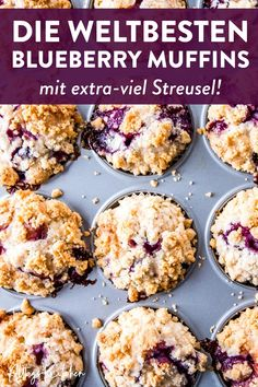 An easy recipe for Gluten-Free Blueberry Muffins with a crumb topping. This gluten-free blueberry muffin recipe also has a dairy-free option. Streusel Topping For Muffins, Sour Cream Muffins, Homemade Blueberry Muffins, Gluten Free Blueberry Muffins, Blueberry Recipes, Blue Berry Muffins, Crumble Topping, Calories In Blueberries, Simple Muffin Recipe