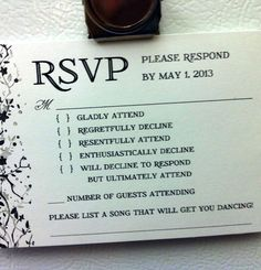funny wedding invitations | The brutal honesty of it is probably why it's gone viral on the ...