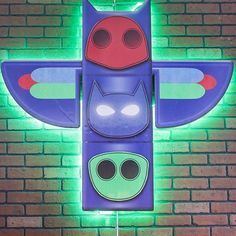 Pj Mask totem! With LED lights! #freshmindsevents #coolideas #totem #pjmasks. @Mafenavarro