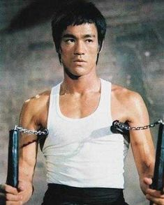 Bruce Lee and nunchucks