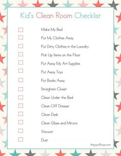 These free Printable Cleaning Checklists will make spring cleaning your home so easy. This set of printables includes a Daily Cleaning Checklist, a Weekly Cleaning Checklist and a Monthly Cleaning Checklist too! House Cleaning Checklist, Cleaning My Room, Cleaning Closet, Cleaning Hacks, Chore Checklist, Cleaning Schedule Printable, Cleaning Schedules, Weekly Cleaning, Bedroom Cleaning Tips