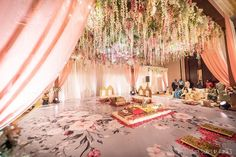 Most Stunning Indoor Mandap Decoration Ideas (Both Minimal . Marriage Decoration, Outdoor Wedding Decorations, Mandap Design, White And Pink Roses, Wedding Mandap, Wedding Ceremony, Wedding Planning Websites, Indoor Wedding, Minimalism