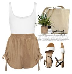 """- Browny -"" by lolgenie ❤ liked on Polyvore featuring Wolford, Topshop, Byredo and Gap"