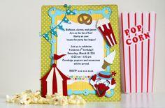 Cricut Carnival | Thienly's Corner – Themed Birthday Party Invitations | SVGCuts.com ...