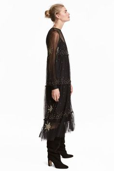 Transparent mesh dress - Black - Ladies | H&M