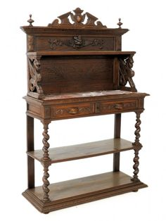 143: A BURGUNDIAN OAK DESSERT BUFFET, French : Lot 0143 · Dessert  BuffetBuffetsVintage FurnitureVictorian ...