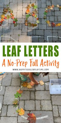 Leaf Letters: No-Prep Fall Activity - HAPPY TODDLER PLAYTIME Fall Activities For Toddlers, Cutting Activities, Alphabet Activities, Stem Activities, Fall Arts And Crafts, So Little Time, Preschool Literacy, Kindergarten Reading, 4 Kids