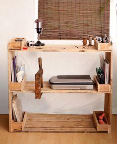Palettenregal Desk, Kitchen, Furniture, Home Decor, Desktop, Cooking, Decoration Home, Room Decor, Table Desk