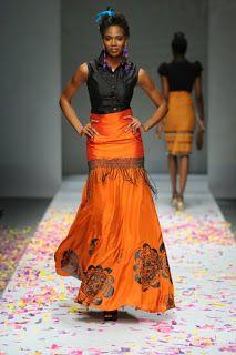 Stoned Cherrie - that skirt! African Inspired Fashion, African Print Fashion, Fashion Prints, Fashion Design, African Prints, African Attire, African Dress, African Style, Ankara