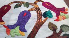 Jacobean applique completed quilt block - quilt maker, Linda McDaniel