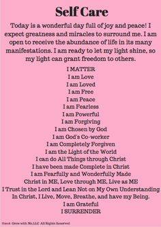 Soul Care is a part of your self-care. It is a journey towards becoming more of YOU--Christ-like. Christian Self Care Prayer Scriptures, Faith Prayer, Prayer Quotes, Affirmation Quotes, Faith Quotes, Quotes Quotes, Qoutes, Bible Verses, Blessed Quotes