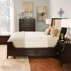 Make your guests feel comfortable with plenty of storage for their clothes and other necessities in their room. Underbed storage and a bench are both great ways to bring in some storage space without cramming dressers into the space.