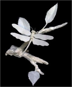 """Dragonfly"" shows itself in high detail on a leafed out twig. by Patty Eckman"
